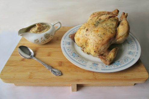 Misselthwaite Manor's Young Fowl with Bread Sauce from The Secret Garden