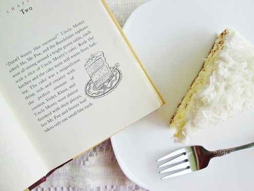 Uncle Monty's Coconut Cake from A Series of Unfortunate Events