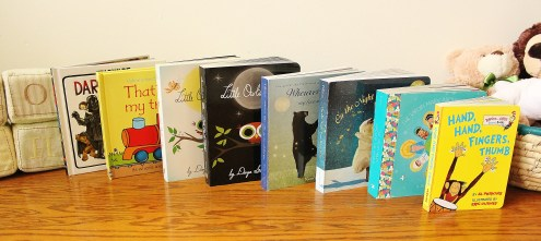 Just a few of the books we got at our baby showers.
