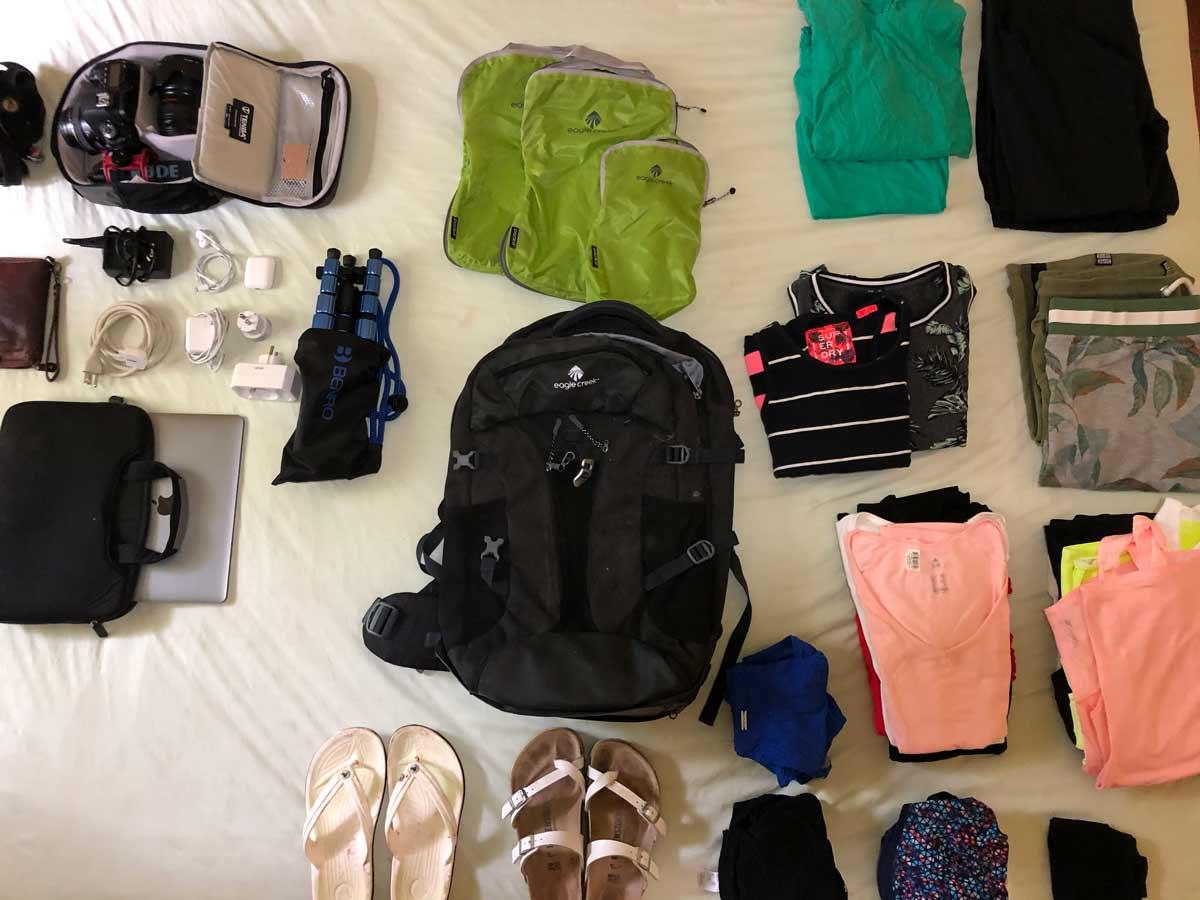 Digital Nomad rugzak inpakken | Wonderlijk Werken