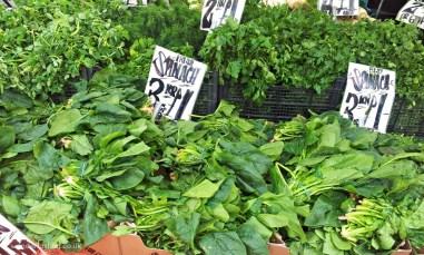 Lewisham market - spinach