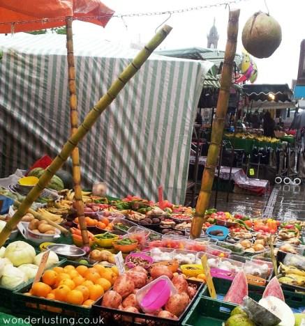 Lewisham market - sugar cane stall