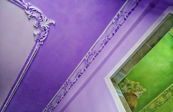 Restored Plaster Work in Our Purple Room & Green Bathroom