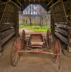 Cart in Cantilever Barn - Tipton Place