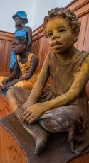 Sculptures of Slave Children by Woodrow Nash