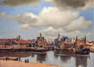 """View of Delft"" by Johannes Vermeer"