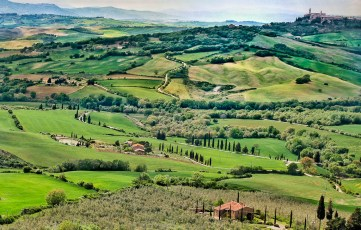 Pienza (top right)