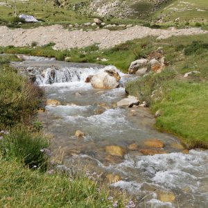 Mountain stream in Tibet