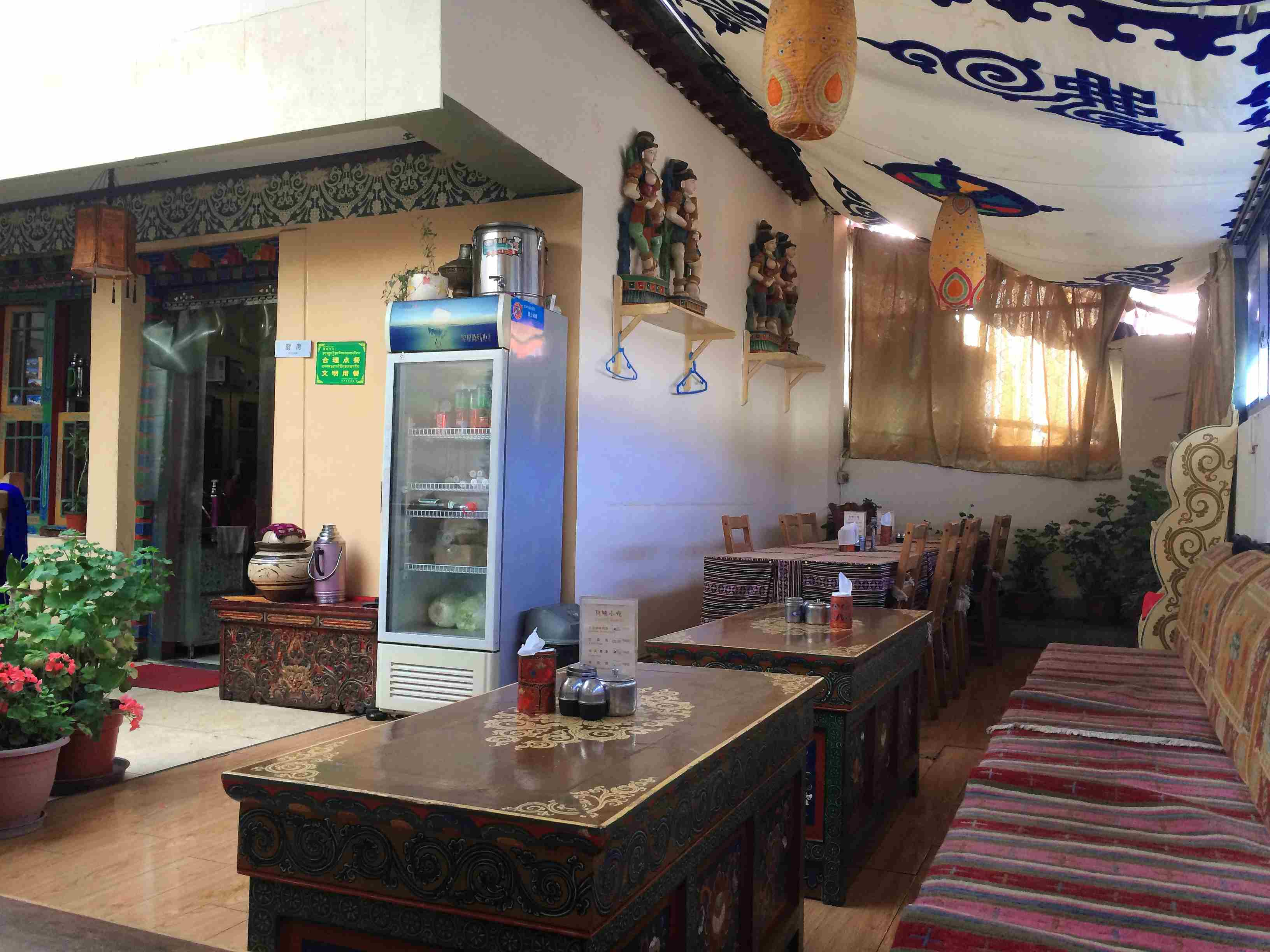 Dining area in hotel in Lhasa