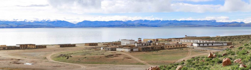 Guesthouses by the Manasarovar lake in Tibet