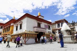 Mani Lhakhang Temple on Bakhor Street in Lhasa