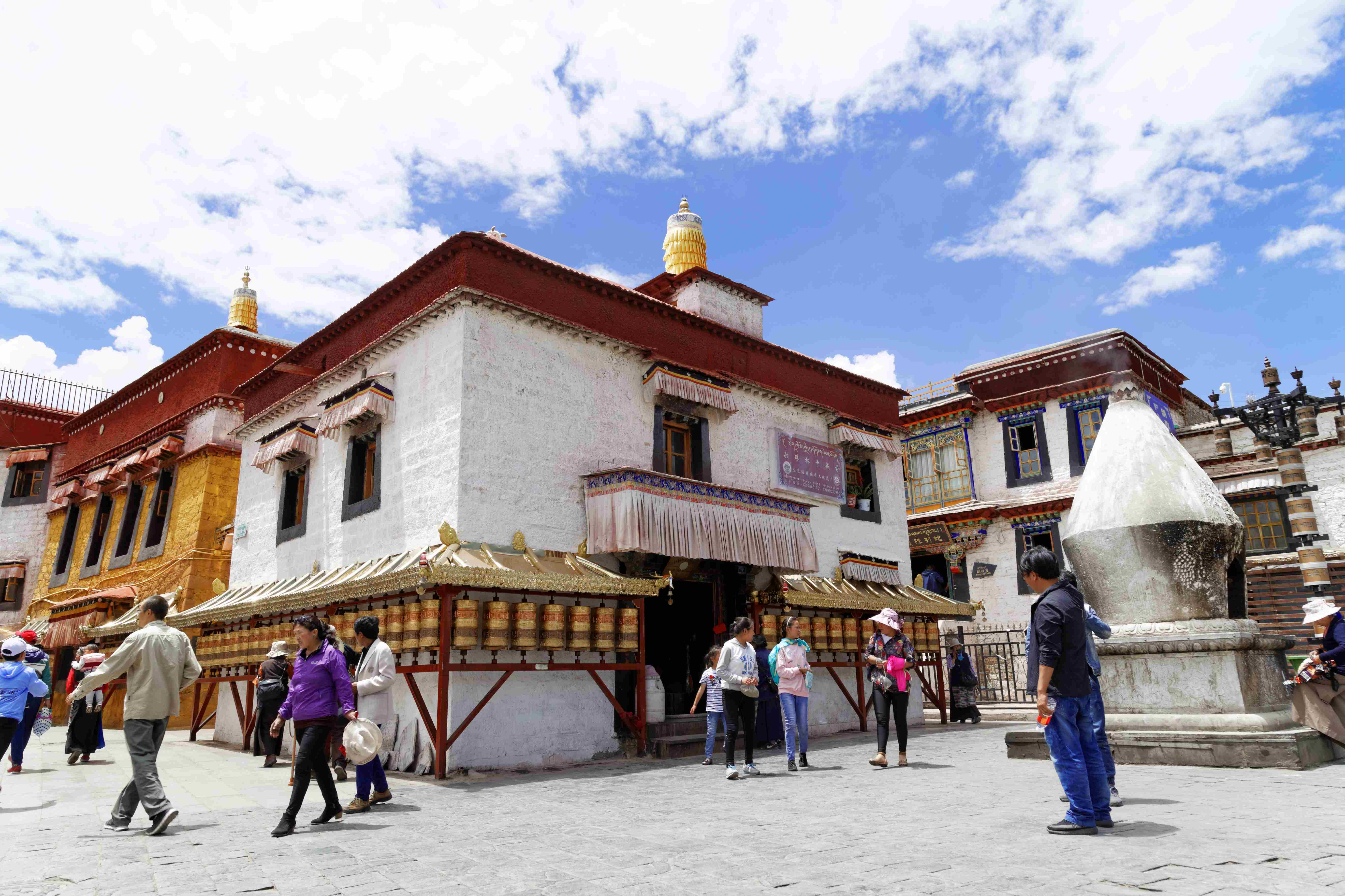 Mani Lhakhang Temple on Barkhor Street in Lhasa