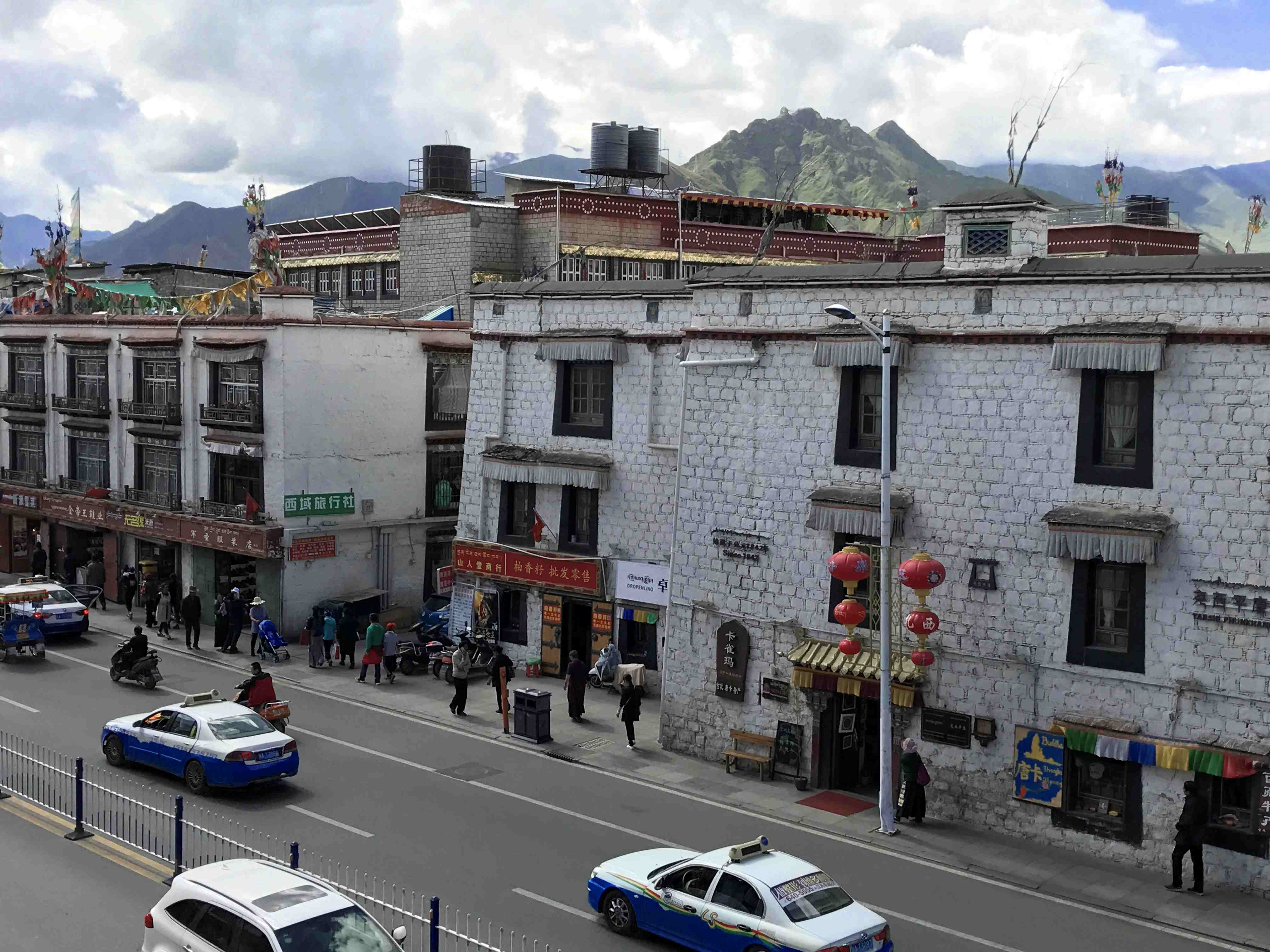 View from the windows of hotel in Lhasa, Tibet