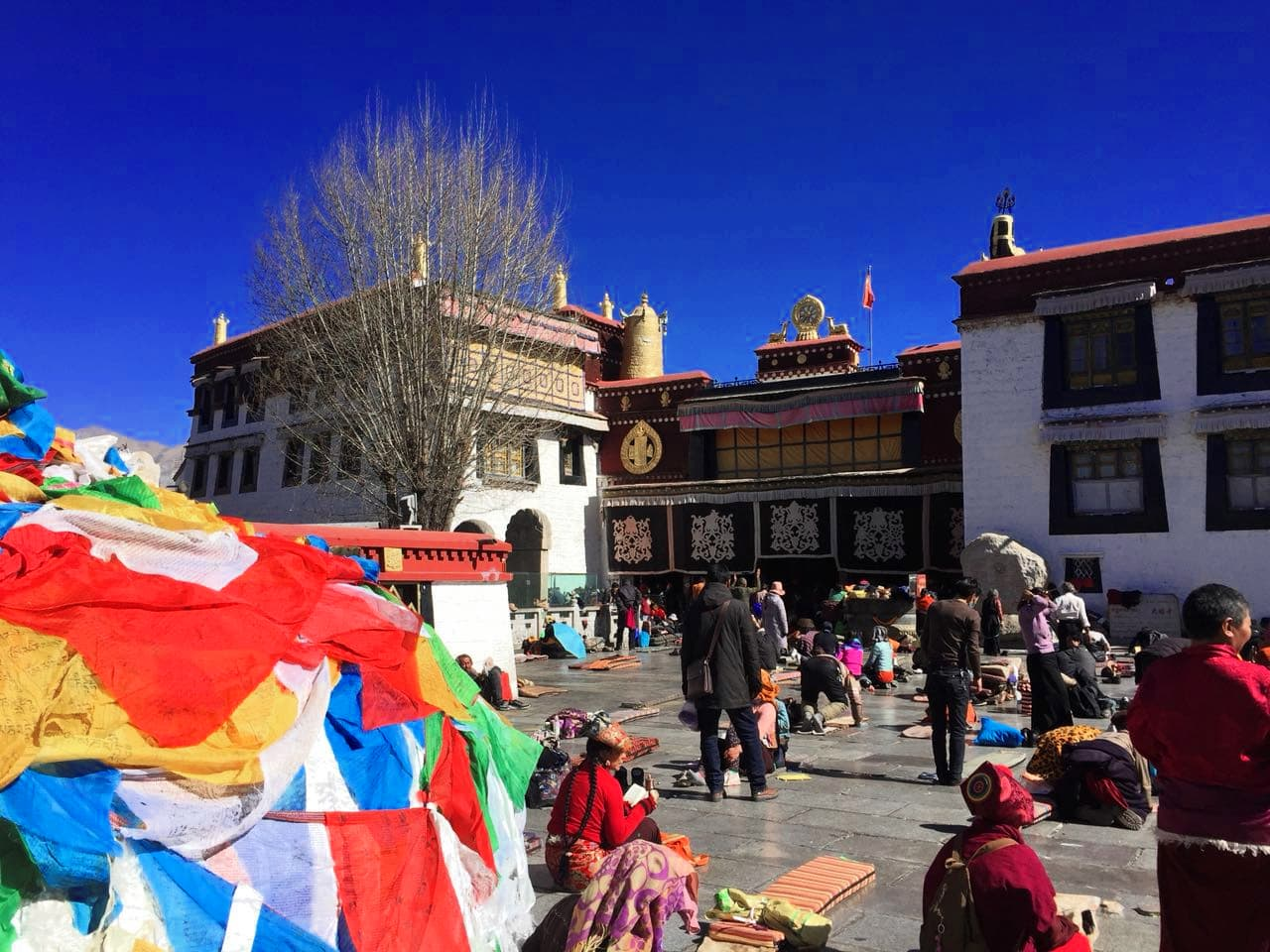 Bakhor Square in front of the Jokhang Temple in Tibet