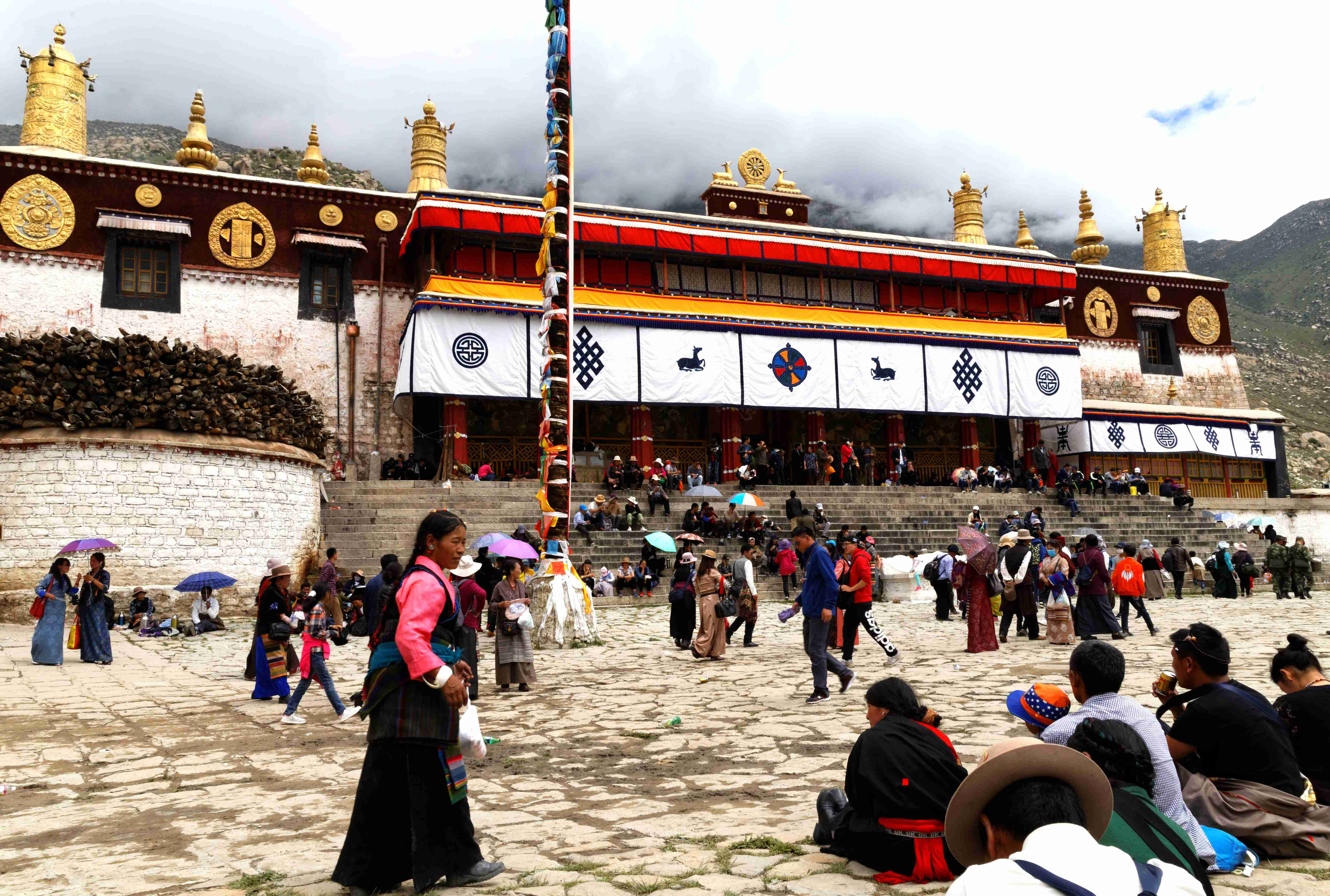 Main Assembly hall of Drepung Monastery in Tibet