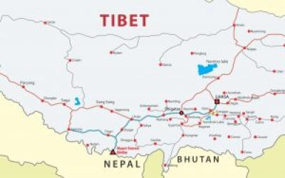 Tibet to Nepal tour map