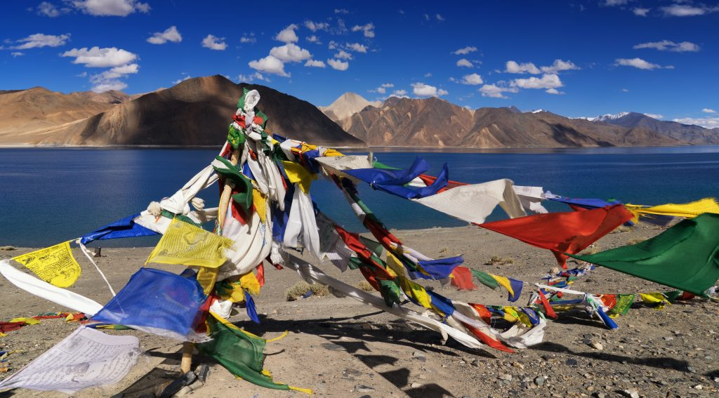 Pangong tso Lake in Tibet and Ladakh India