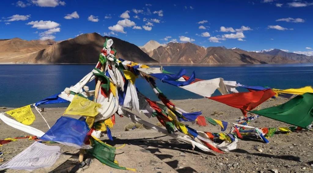 Pangong tso Lake in Tibet and Ladakh India