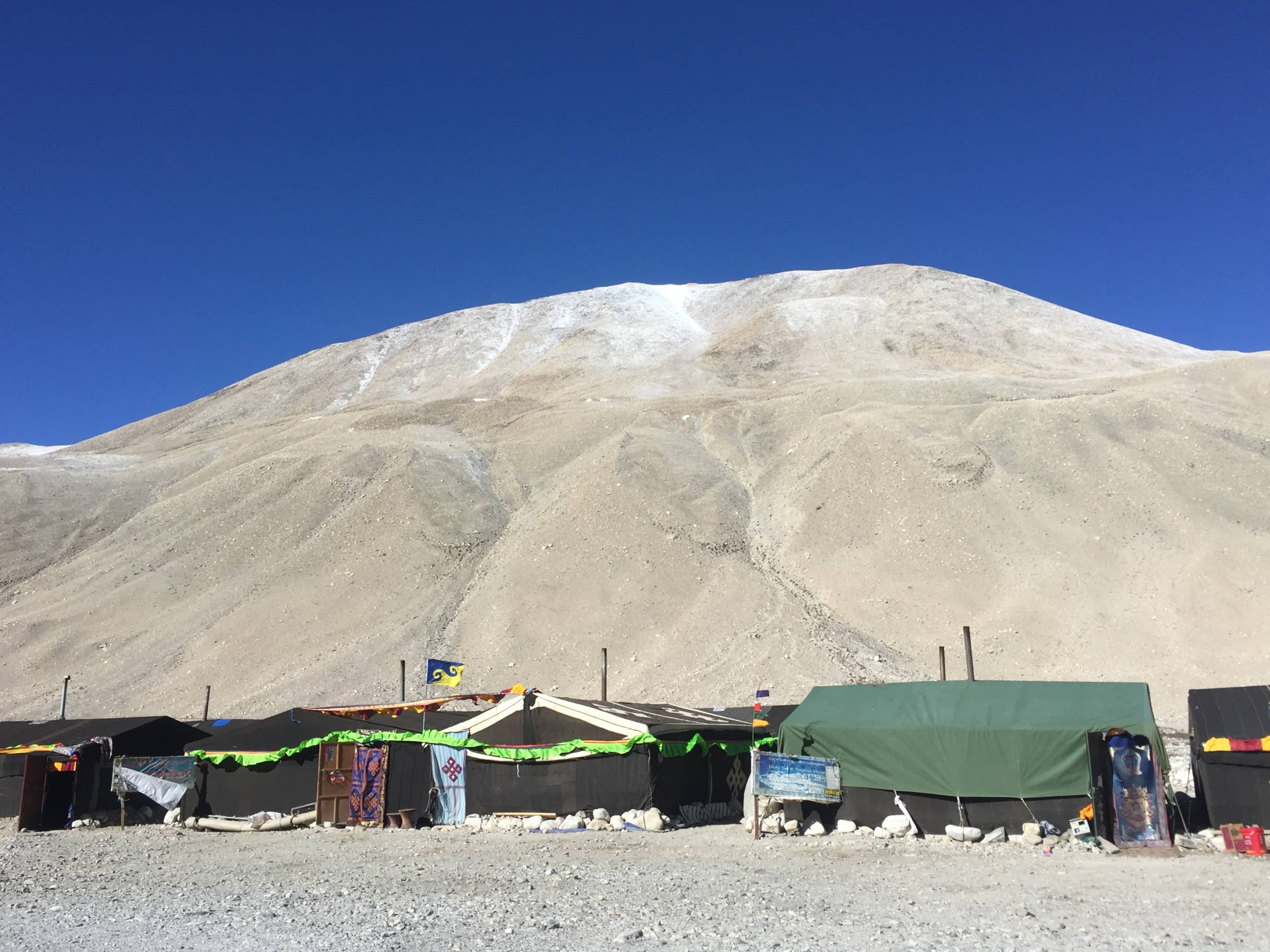 Tents in the camp by the Everest