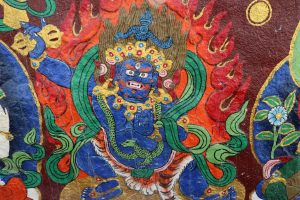 Protector painted on the wall in Sera monastery complex