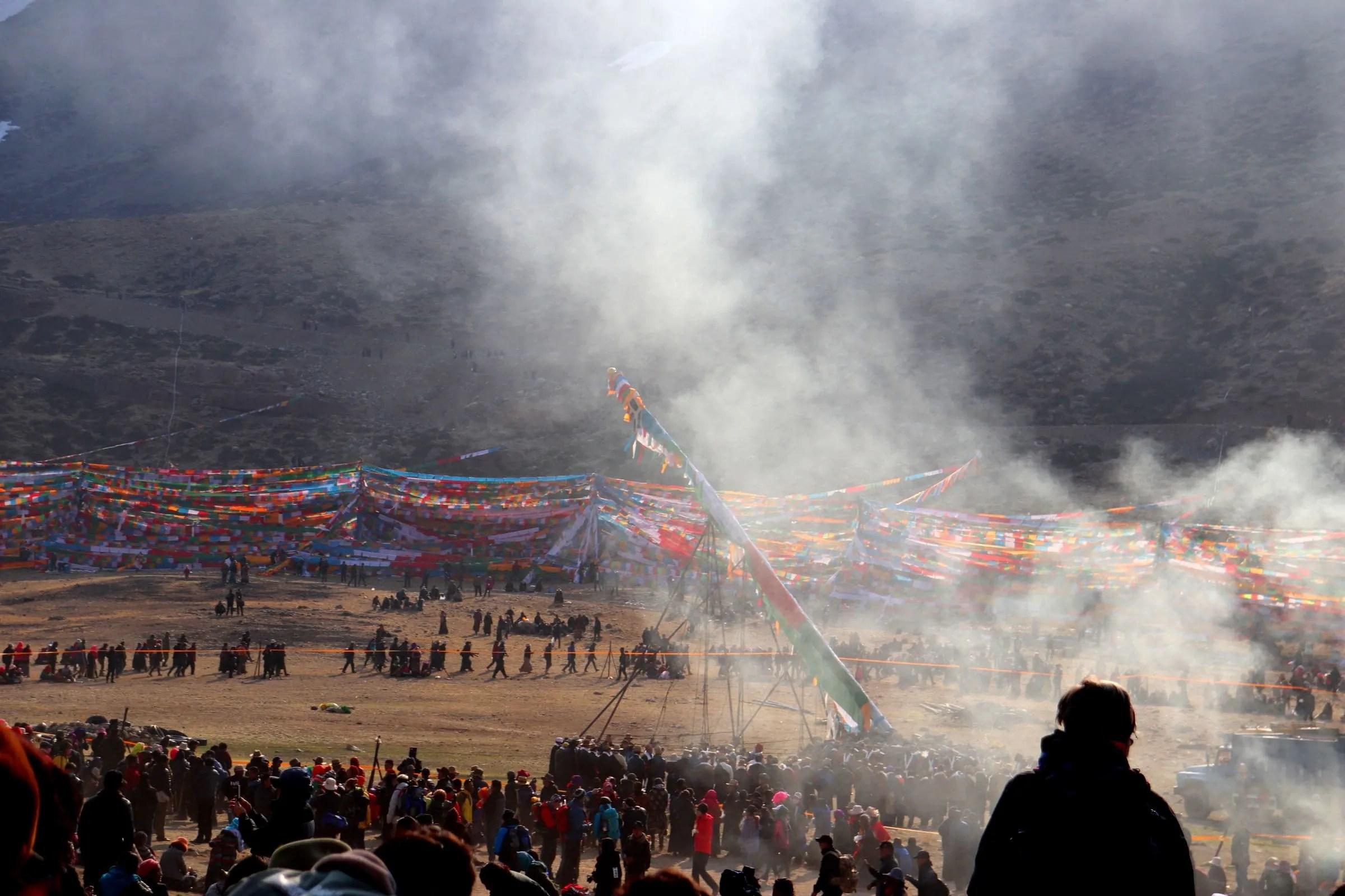 Celebration of Saga Dawa near Mount Kailash