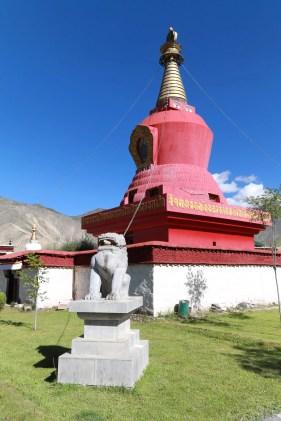 Red stupa in Samye monastery