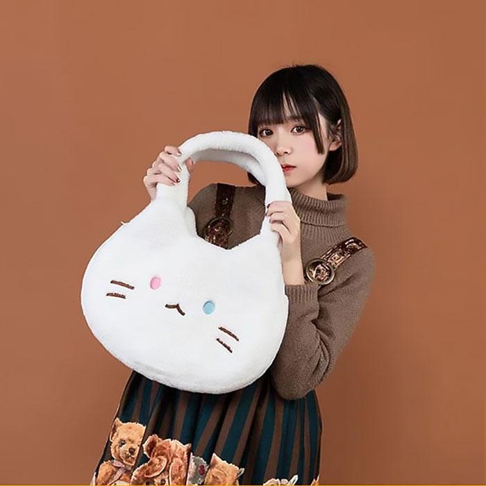可愛大臉皮皮貓單肩包