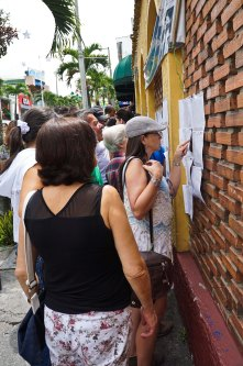 Voting day in Colombia