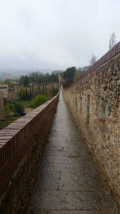 The great wall of Girona, which once served as protection to the city.