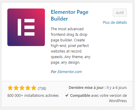 Extension Elementor