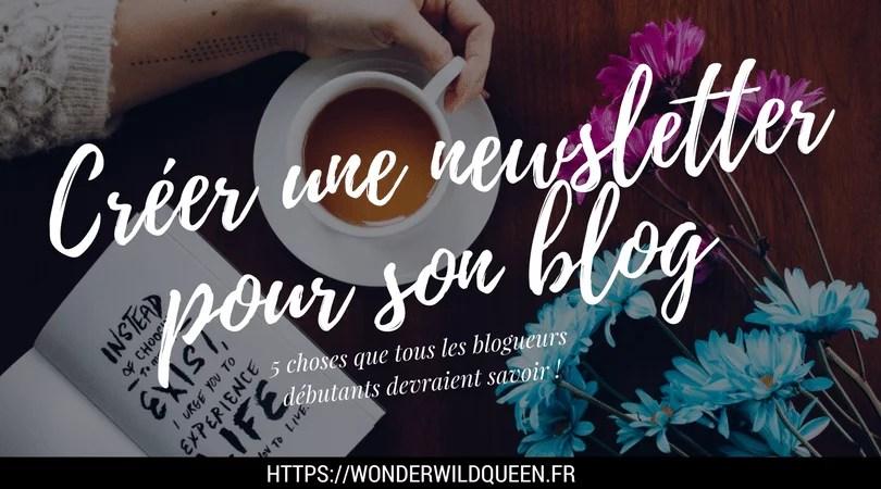 Créer une newsletter pour son blog