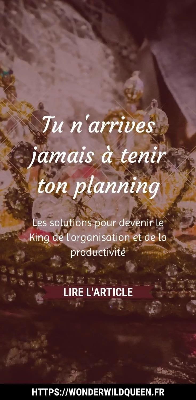 Tu n'arrives JAMAIS à tenir ton planning #planning #productivité #organisation