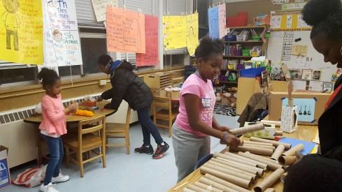 Student led  a guitar making workshop
