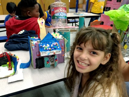 4th grader creates her ideal school.