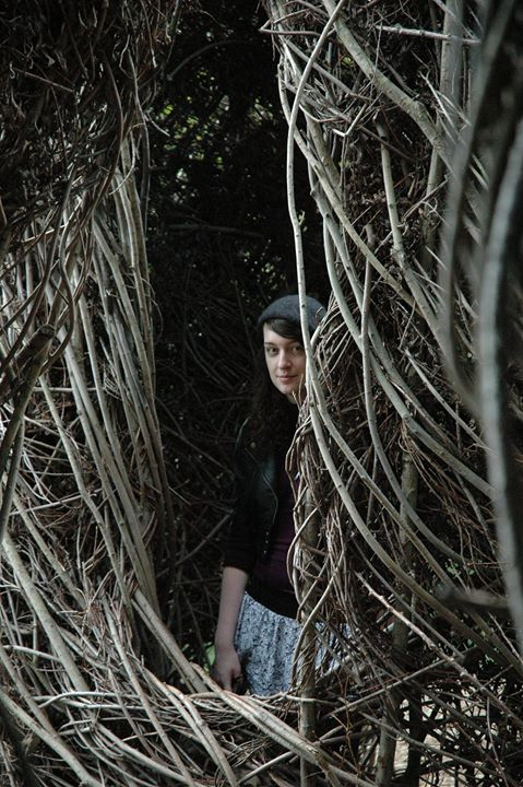 Hiding in a Patrick Dougherty sculpture