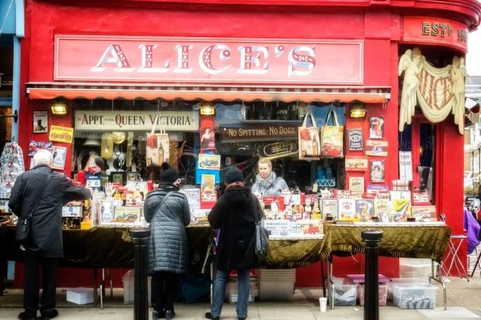 Alice's Antiques, Portobello Road, Notting Hill, London