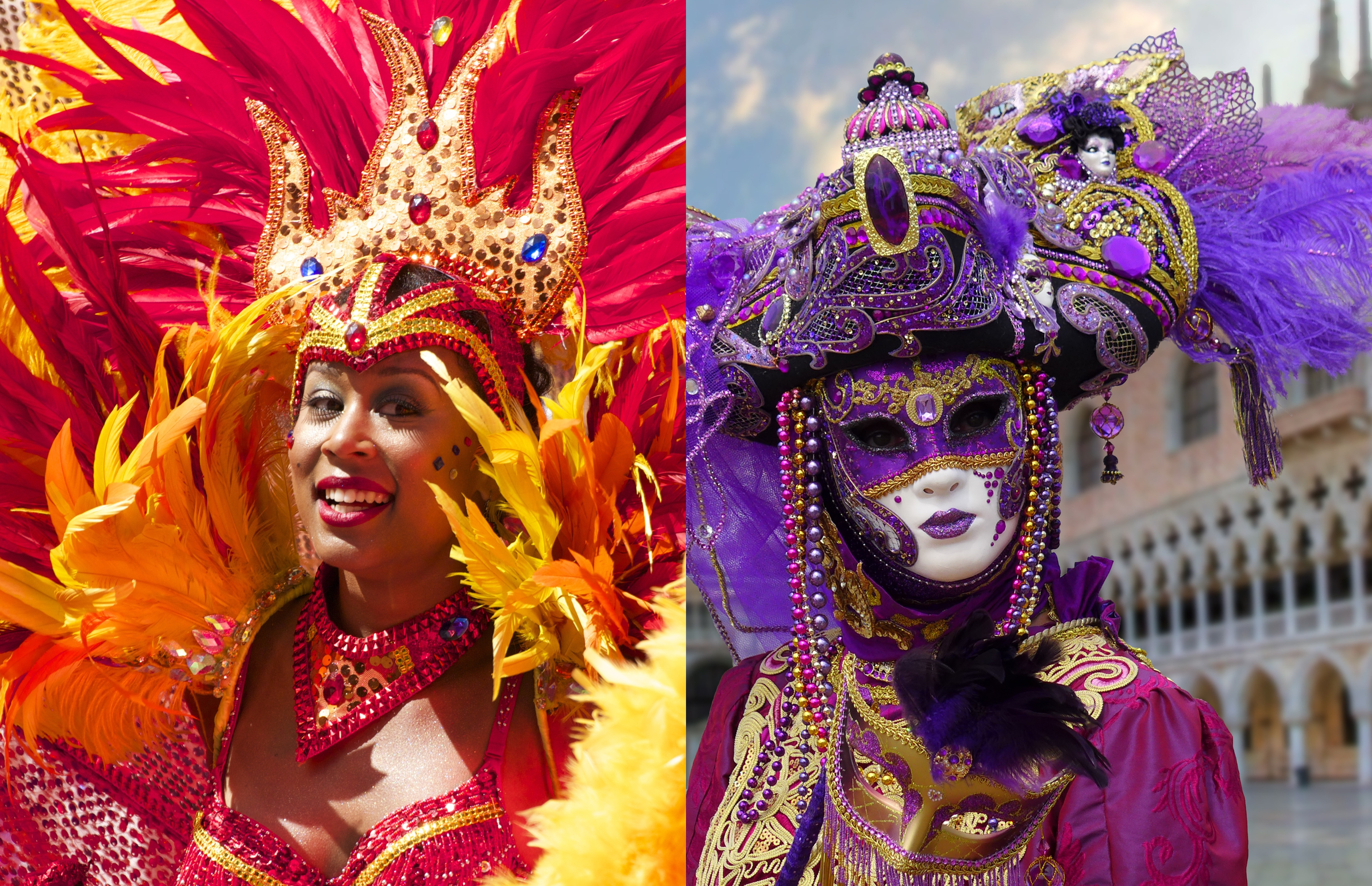 Carnivals from around the world - Venice and Rio de Janeiro