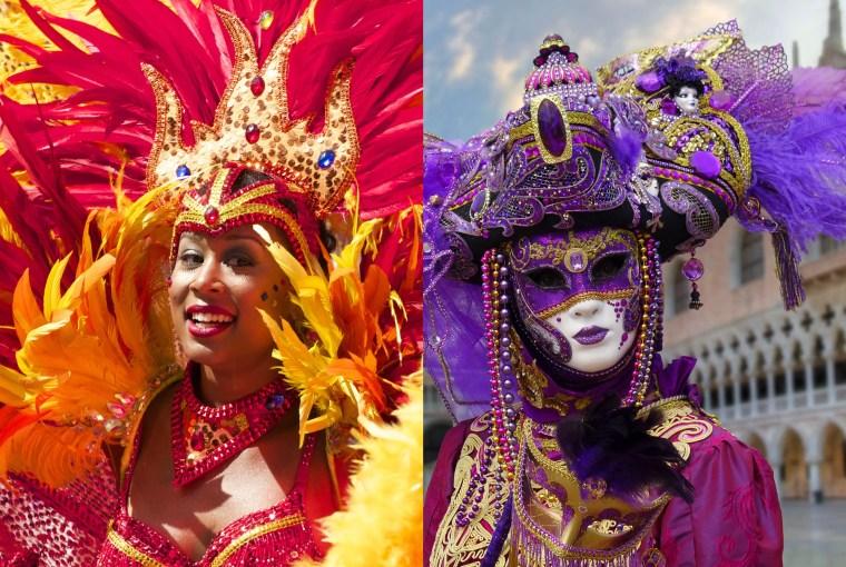 Carnivals from around the world - Venice and Rio de Janeiro