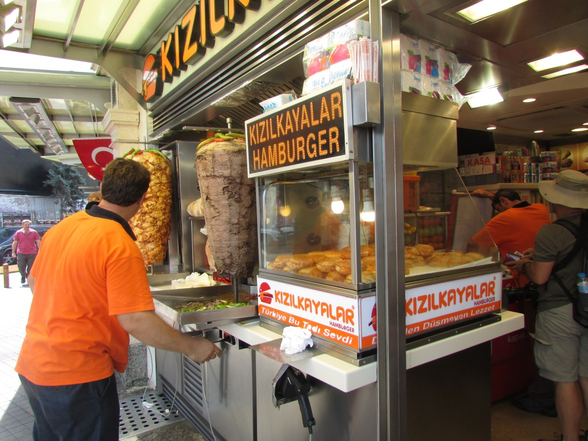 "Turkish ""Wetburger"" stand outside Taksim Square"