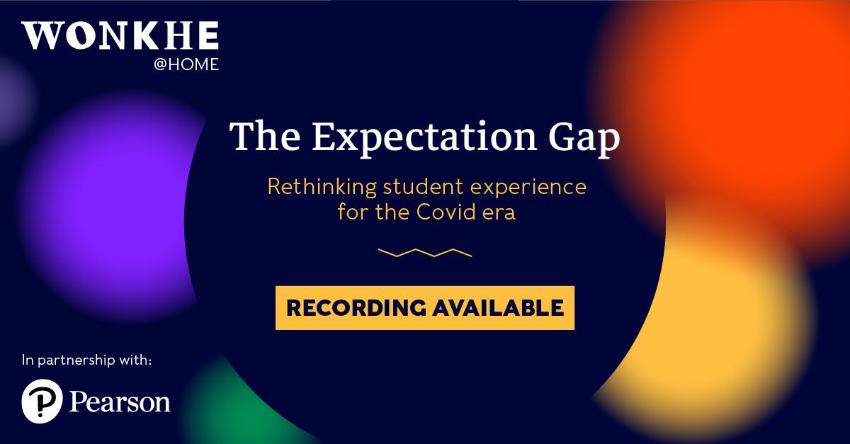 Image of Wonkhe @ Home: The expectation gap