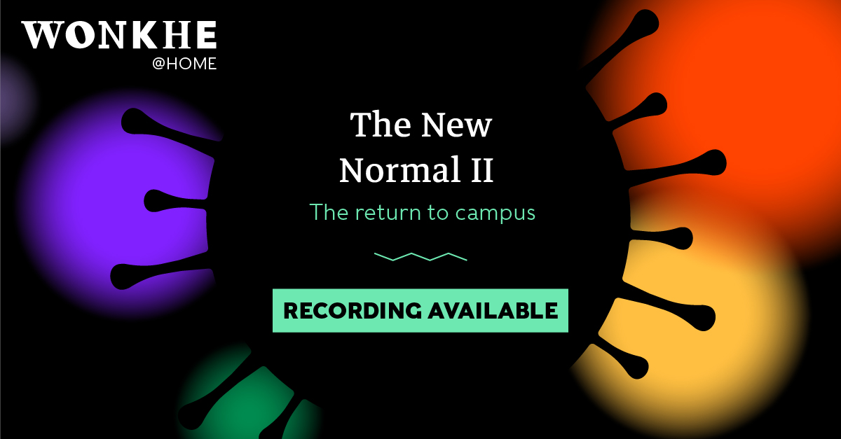 Image of Wonkhe @ Home: The New Normal II