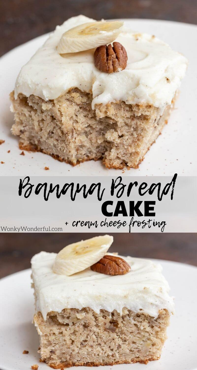 banana bread cake photo collage