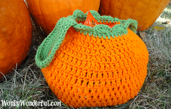 #FreePattern #Crochet Trick Or Treat Bag - wonkywonderful.com
