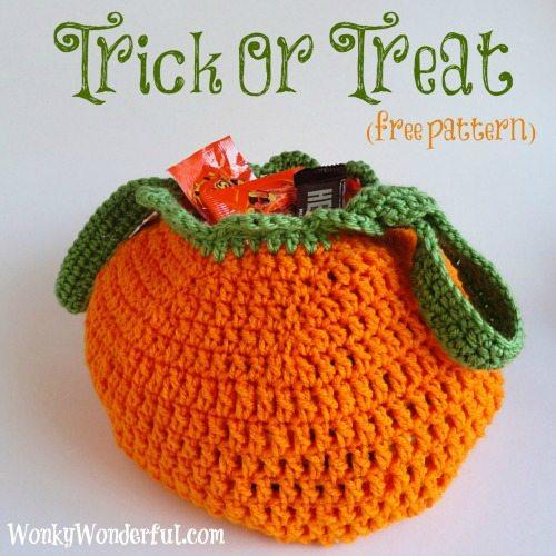 halloween bag free crochet pattern