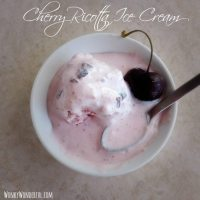 Cherry Ricotta Ice Cream