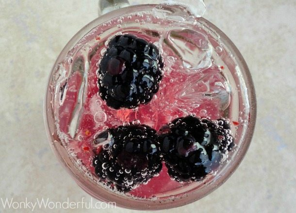 Blackberry Honey Spritzer ::: wonkywonderful.com