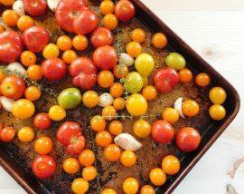 Roasted Garlic Thyme Tomatoes ::: wonkywonderful.com
