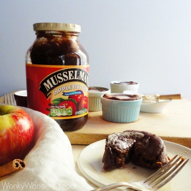 Spiced Apple Popovers with Maple Cinnamon Spread  ::: #applebutterspin #giveaway ::: wonkywonderful.com