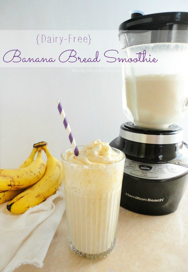 Banana Bread Dairy Free Smoothie Recipe - wonkywonderful.com