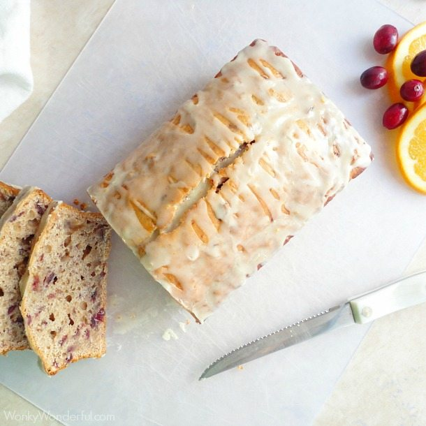 Orange Glazed Cranberry Bread | 16 Homemade Thanksgiving Bread Recipes